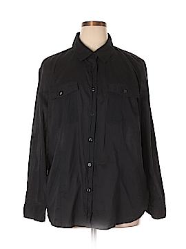 MICHAEL Michael Kors Long Sleeve Button-Down Shirt Size 3X (Plus)