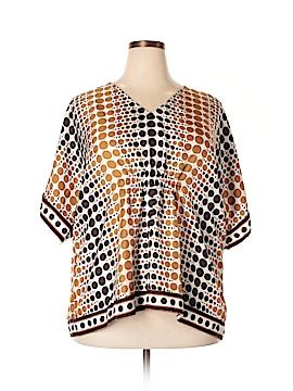 MICHAEL Michael Kors Short Sleeve Silk Top Size 3X (Plus)