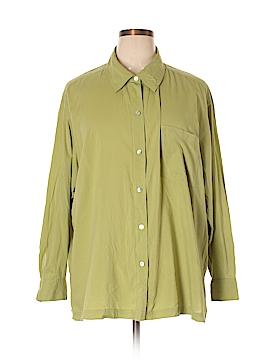 Sigrid Olsen Long Sleeve Button-Down Shirt Size 3X (Plus)