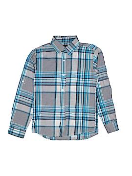 Swiss Cross Long Sleeve Button-Down Shirt Size 10 - 12