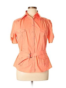 Mix It Short Sleeve Button-Down Shirt Size XL
