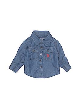 U.S. Polo Assn. Long Sleeve Button-Down Shirt Size 3-6 mo