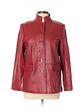 Dialogue Leather Jacket Size 10