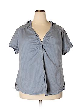 Route 66 Short Sleeve Button-Down Shirt Size 2X (Plus)