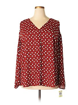 INC International Concepts Long Sleeve Blouse Size 14 (Plus)