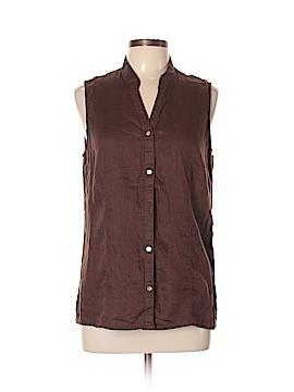 DressBarn Sleeveless Button-Down Shirt Size XL
