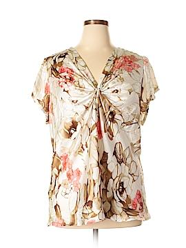 Sunny Leigh Short Sleeve Blouse Size 2X (Plus)