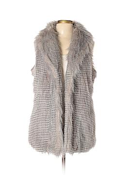 Live A Little Faux Fur Vest Size XL