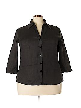 David N 3/4 Sleeve Blouse Size 2X (Plus)