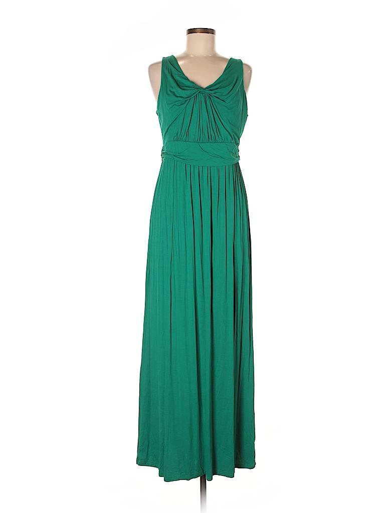 Gilli Solid Dark Green Casual Dress Size XL - 58% off | thredUP