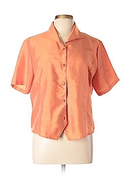 Impressions Short Sleeve Blouse Size L
