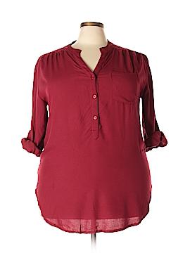 Avenue 3/4 Sleeve Button-Down Shirt Size 18 - 20 Plus (Plus)