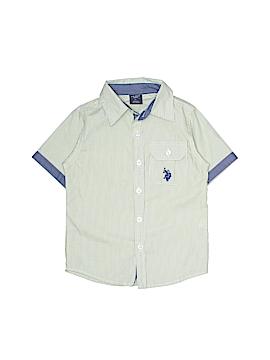 U.S. Polo Assn. Short Sleeve Button-Down Shirt Size 2T