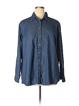 Harriton Long Sleeve Button-Down Shirt Size 2X (Plus)