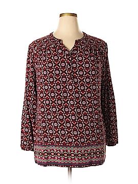Laura Scott Long Sleeve Blouse Size 2X (Plus)