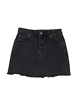 Moto Denim Skirt Size 6