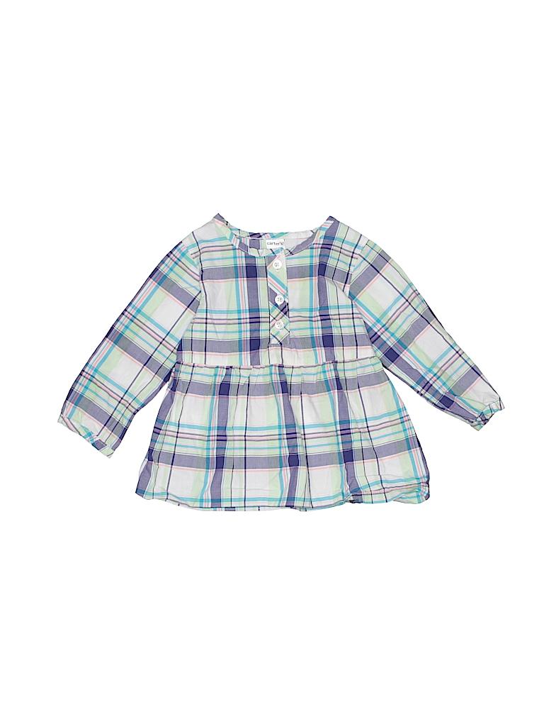 Carter's Girls 3/4 Sleeve Henley Size 12 mo