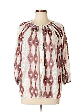 Line & Dot 3/4 Sleeve Blouse Size L