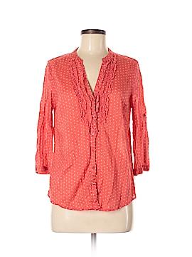 LC Lauren Conrad 3/4 Sleeve Button-Down Shirt Size M