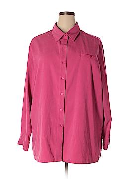 Sag Harbor Long Sleeve Button-Down Shirt Size 24 (Plus)