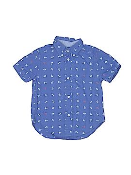 Chaps Short Sleeve Button-Down Shirt Size 3