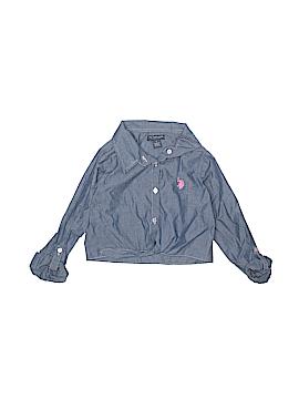 U.S. Polo Assn. Long Sleeve Button-Down Shirt Size 7