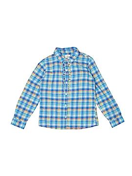 Lands' End Long Sleeve Button-Down Shirt Size 7