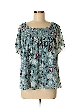 Ann Taylor LOFT Short Sleeve Blouse Size M