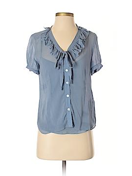 DKNY Short Sleeve Silk Top Size 4