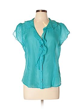 Banana Republic Factory Store Short Sleeve Silk Top Size L