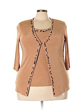 Vikki Vi 3/4 Sleeve Top Size 0X (Plus)