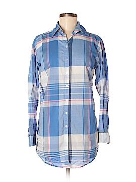 LOGO Long Sleeve Button-Down Shirt Size 4