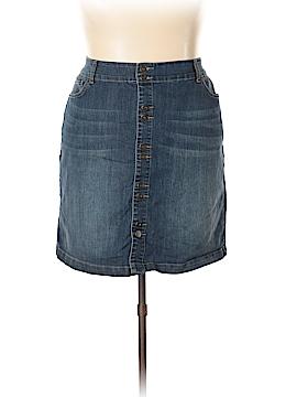 INC International Concepts Denim Skirt Size 20 (Plus)