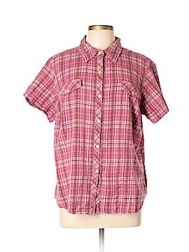 Sag Harbor Short Sleeve Button-Down Shirt Size 1X (Plus)