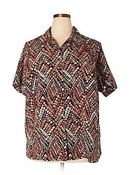 Kim Rogers Short Sleeve Button-Down Shirt Size 22W (Plus)