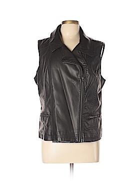 Roz & Ali Faux Fur Vest Size XL