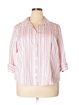Studio 1940 3/4 Sleeve Button-Down Shirt Size 26/28W (Plus)