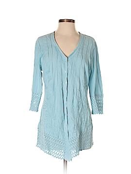 Soft Surroundings 3/4 Sleeve Button-Down Shirt Size XS (Petite)