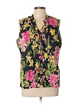 Caribbean Joe Sleeveless Blouse Size XL