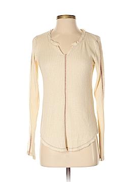 Hem & Thread Long Sleeve Top Size S