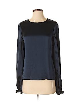 Carolina Herrera Long Sleeve Silk Top Size 2