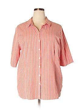 Venezia Short Sleeve Button-Down Shirt Size 26/28 (Plus)