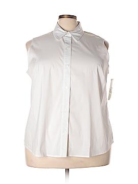 Jones New York Sleeveless Button-Down Shirt Size 24 (Plus)