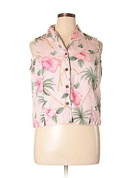 Jamaica Bay Sleeveless Button-Down Shirt Size XL