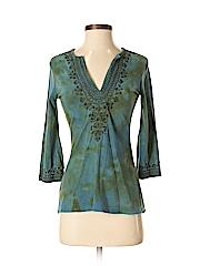 INC International Concepts Women 3/4 Sleeve Top Size P