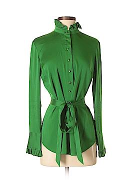 Elizabeth McKay Long Sleeve Silk Top Size 4