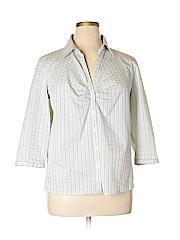 Worthington Women 3/4 Sleeve Button-Down Shirt Size 1X (Plus)