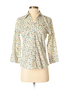 Eddie Bauer 3/4 Sleeve Button-Down Shirt Size XS