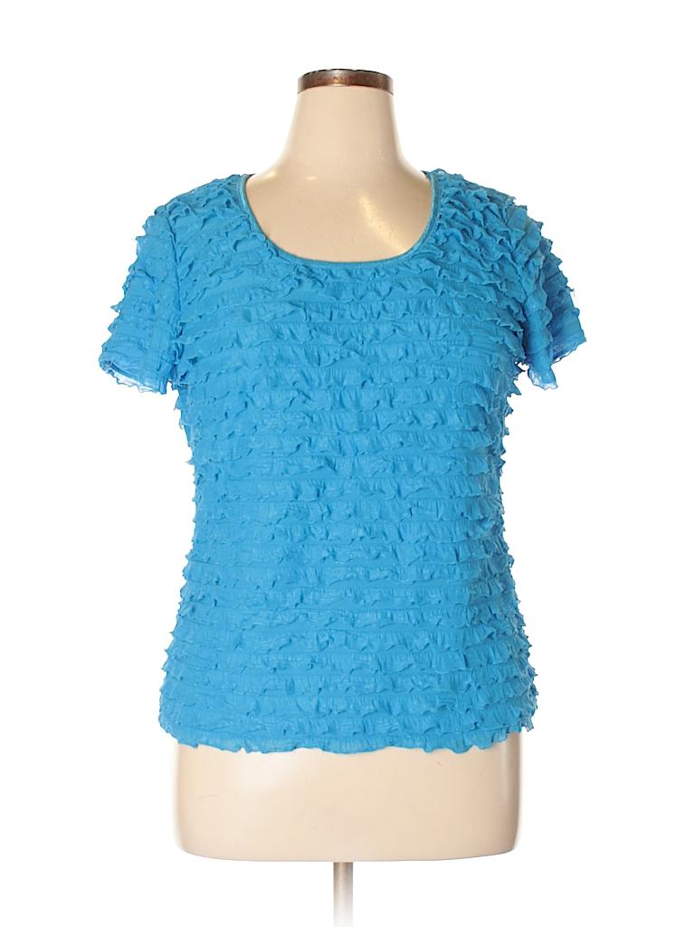Serenade Women Short Sleeve Top Size XL