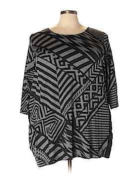 Laura Ashley 3/4 Sleeve Top Size 3X (Plus)